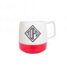 Topo Designs Mug White/Red
