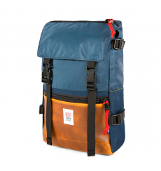 Topo Designs Rover Pack Heritage Navy/Brown Leather