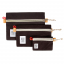 Topo Designs Accessory Bags Canvas Black Set of 3