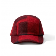 Filson 5-Panel Wool Cap 11030236-Red/Black Plaid