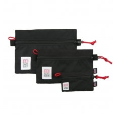 Topo Designs Accessory Bags 3 Pack Black