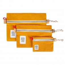 Topo Designs Accessory Bags 3 Pack Canvas Mustard