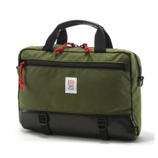 Topo Designs Commuter Briefcase Olive/Black Leather