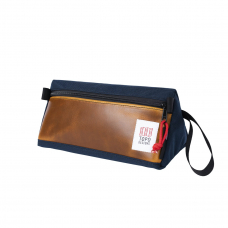 Topo Designs Dopp Kit Heritage Navy/Brown Leather