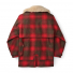 Filson Lined Wool Packer Coat Red/Green/Dark Brown back
