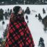 Filson MacKinaw Blanket 11080110 Red/Black in the snow