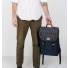 Sandqvist Hans Backpack Multi Black-Blue-Grey carrying