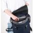 Sandqvist backpack Hege Blue laptop inside
