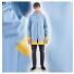 Stutterheim Stockholm Raincoat Blue Fog Frame men effect