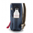 Topo Designs Daypack Navy Brown Leather side