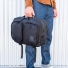 Topo Designs Global Briefcase Ballistic Black in the hand