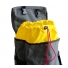 Topo Designs Klettersack Charcoal - drawstring cinch closure to main compartment
