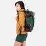 Topo Designs Klettersack Forest/Brown Leather on bag of women