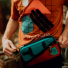 Topo Designs Mini Quick Pack Turquoise/Clay opening