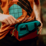 Topo Designs Mini Quick Pack Turquoise/Clay waist pack closing