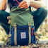 Topo Designs Rover Pack Classic Olive/Navy closing