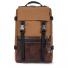 Topo Designs Rover Pack Heritage Dark Khaki Canvas/Dark Brown Leather front