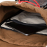 Topo Designs Rover Pack Heritage Dark Khaki Canvas/Dark Brown Leather detail inside