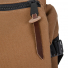 Topo Designs Rover Pack Heritage Dark Khaki Canvas/Dark Brown Leather zipper detail