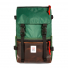 Topo Designs Rover Pack Heritage Forest/Brown Leather front
