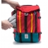 Topo Mountain Pack Red side zippered pocket
