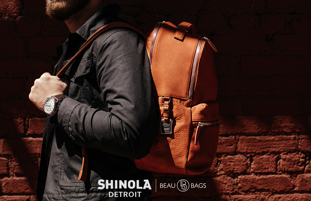 Shinola The Runwell Backpack Bourbon, great pack for on the go