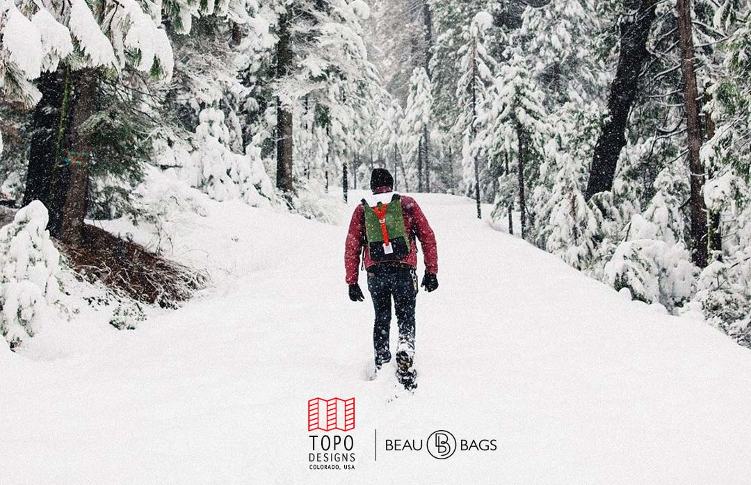 Topo Designs Y-PACK BACKPACK RED Lifestyle