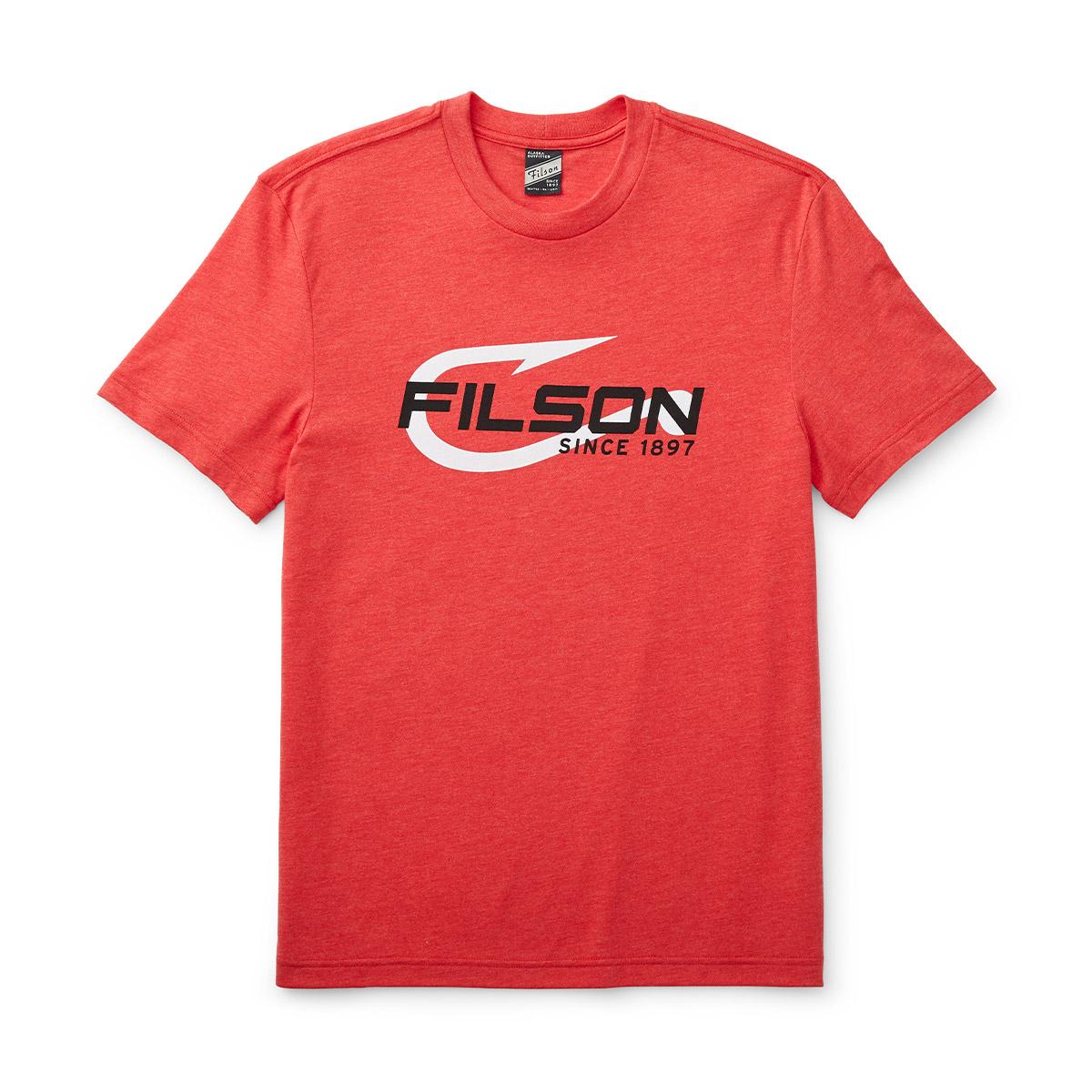 Filson Buckshot T-Shirt Mackinaw Red, high performance T-shirt with UPF 50+ sun protection
