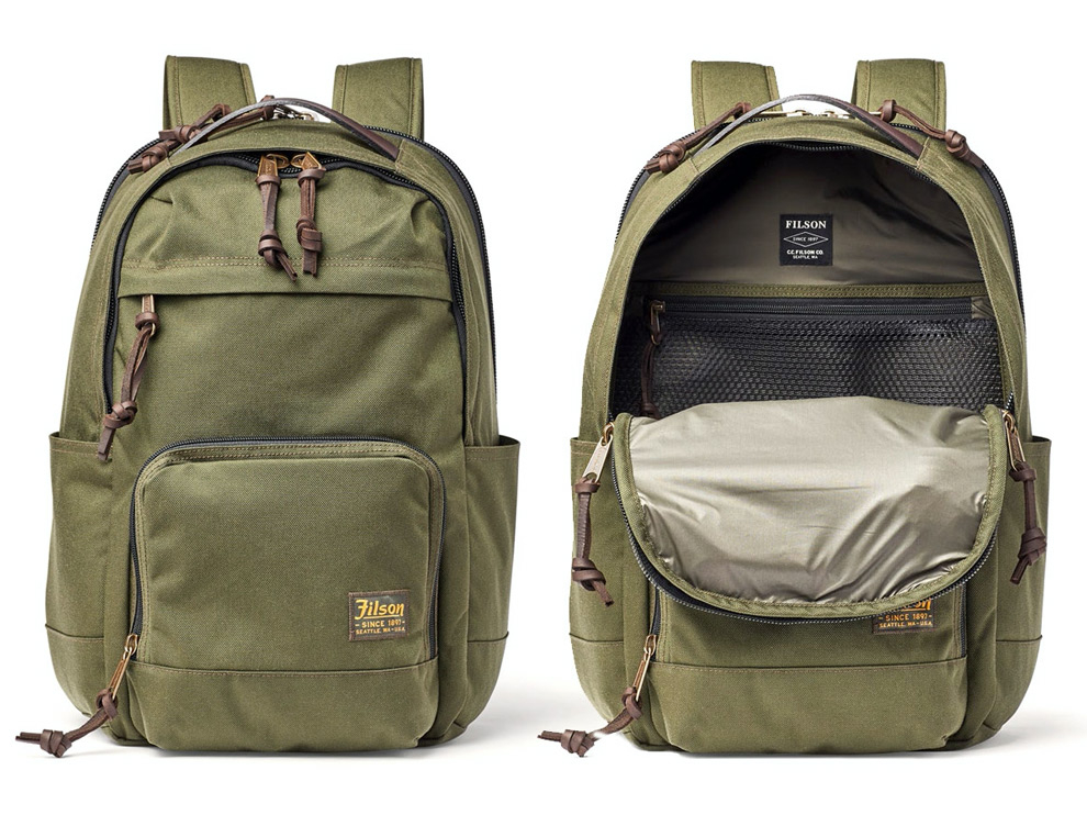 Filson Filson Dryden Backpack Otter Green, For travel, work and sport. Guaranteed.