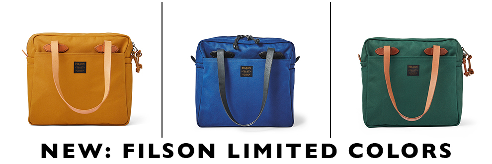 Filson Limited Colors, now exclusively for sale at BeauBags