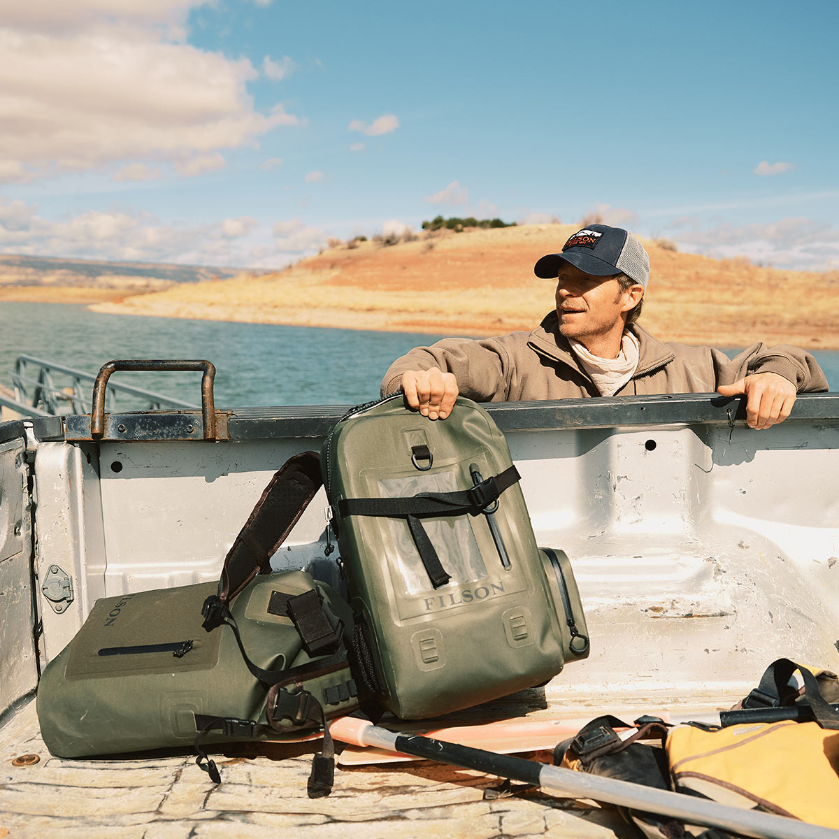 Filson Backpack Dry Bag, keeps your gear dry in any weather