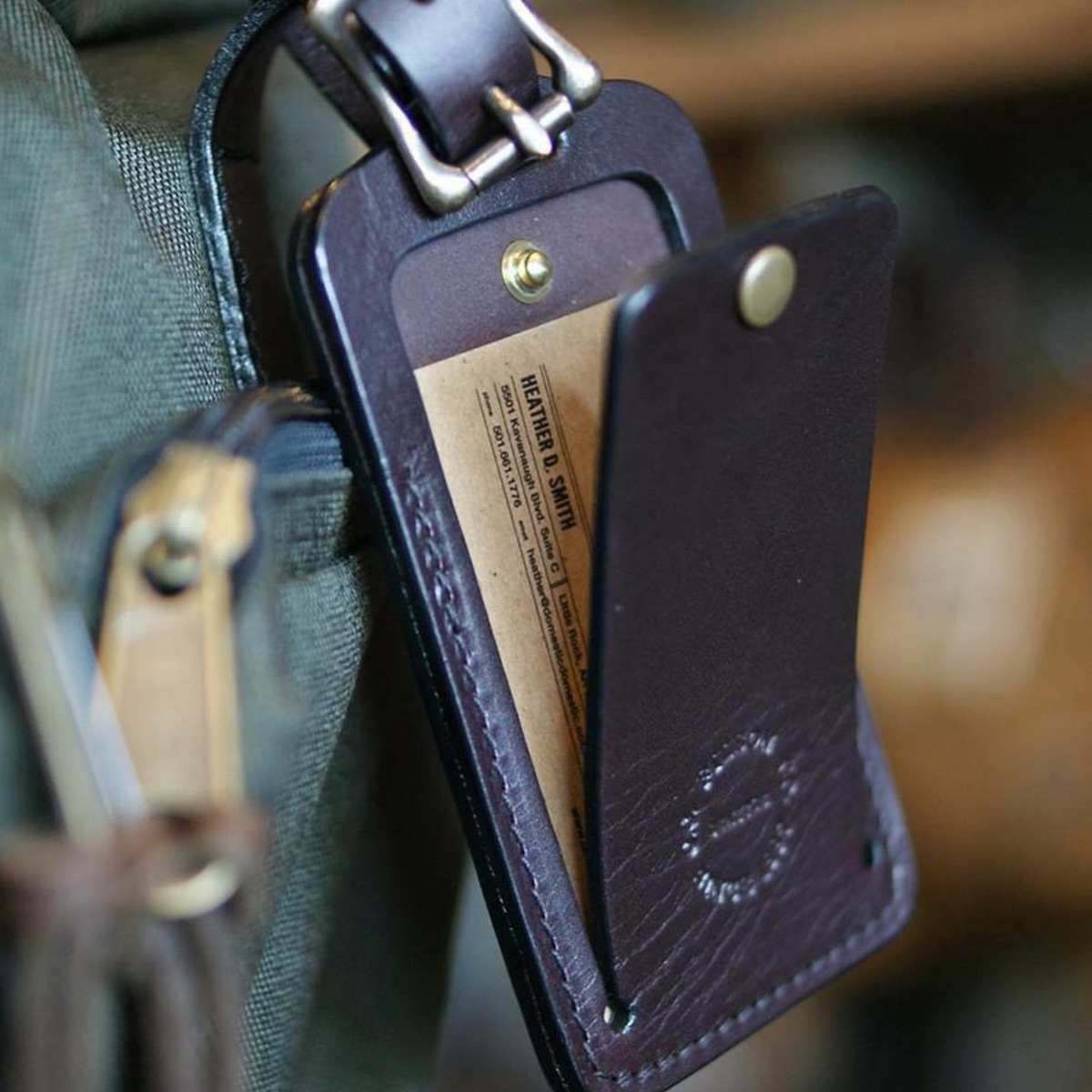 Filson Luggage Tag 20018729 Brown, fits all Filson bags