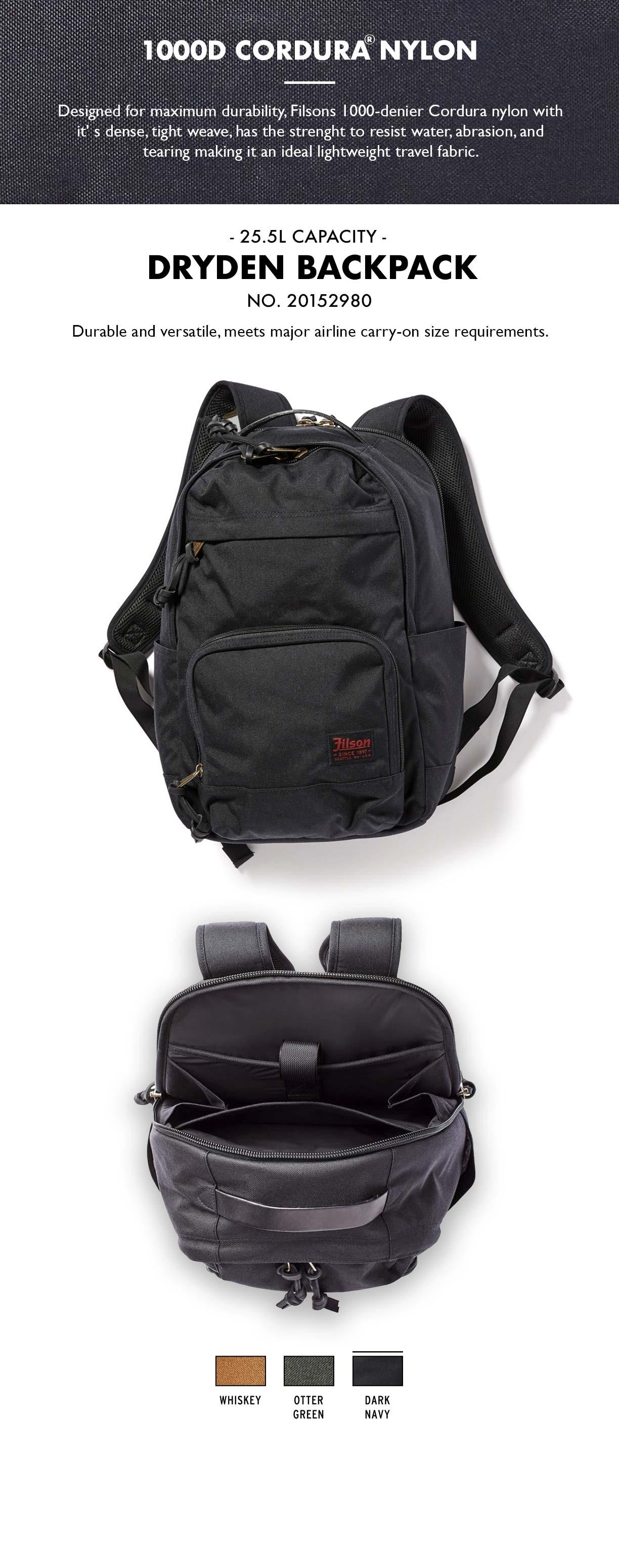 Filson Dryden Backpack Dark Navy Product-information