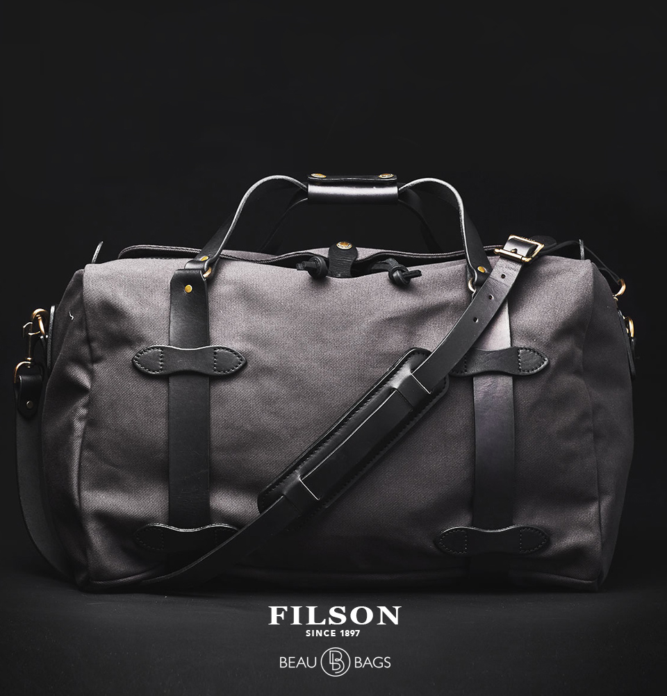 Filson Duffle Medium Cinder, travelbag made for heavy-duty trips