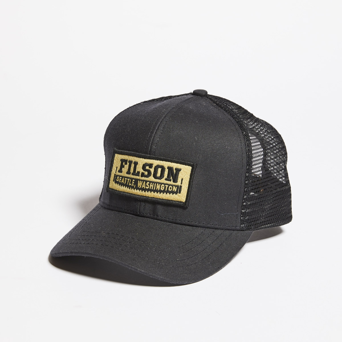 Filson Mesh Logger Cap 20157135-Black, durable cap with breathable sun protection