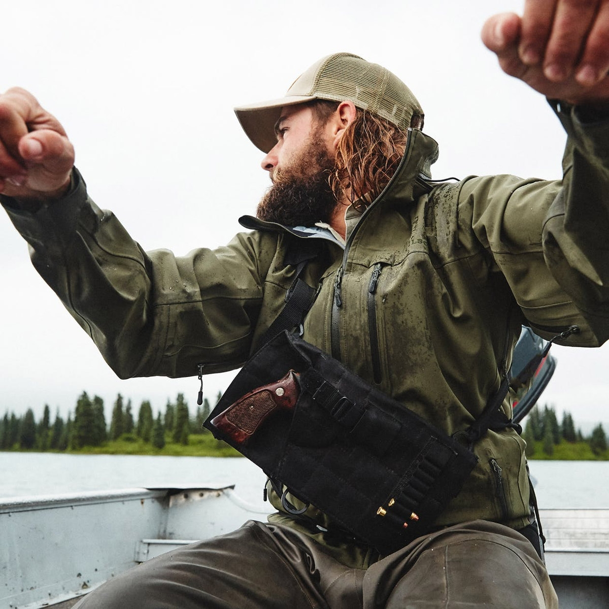 Filson Neoshell Reliance Jacket Raven, waterproof and highly breathable jacket