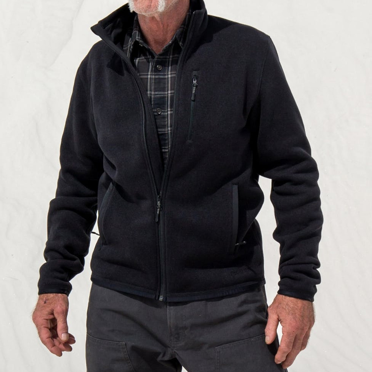 Filson Ridgeway Fleece Jacket Black, comfortable, lightweight quick-drying Polartec® fleece for use in extreme conditions