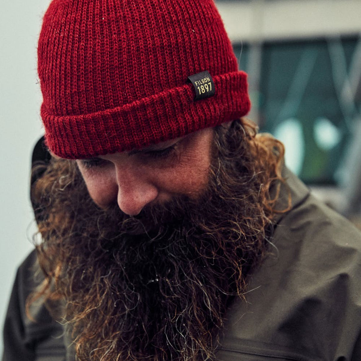 Filson Watch Cap Red, keeps your head and ears warm
