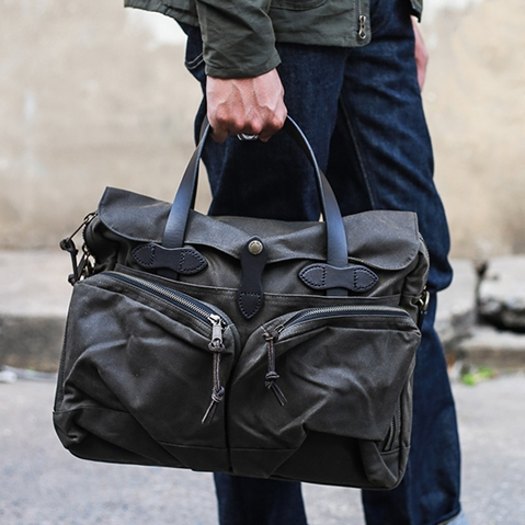 Filson 24-Hour Tin Briefcase Otter Green, perfect bag for a weekend away or a small business-trip
