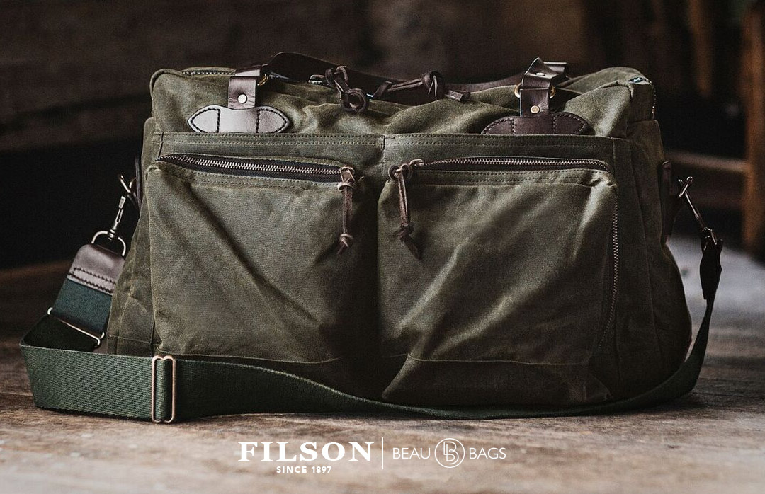 Filson 48-Hour Duffle Otter Green, perfect for a weekend away or a small business-trip
