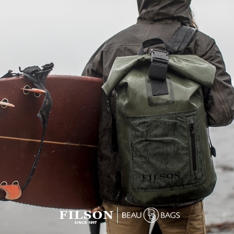 Filson Dry Backpack, for use in all weather conditions