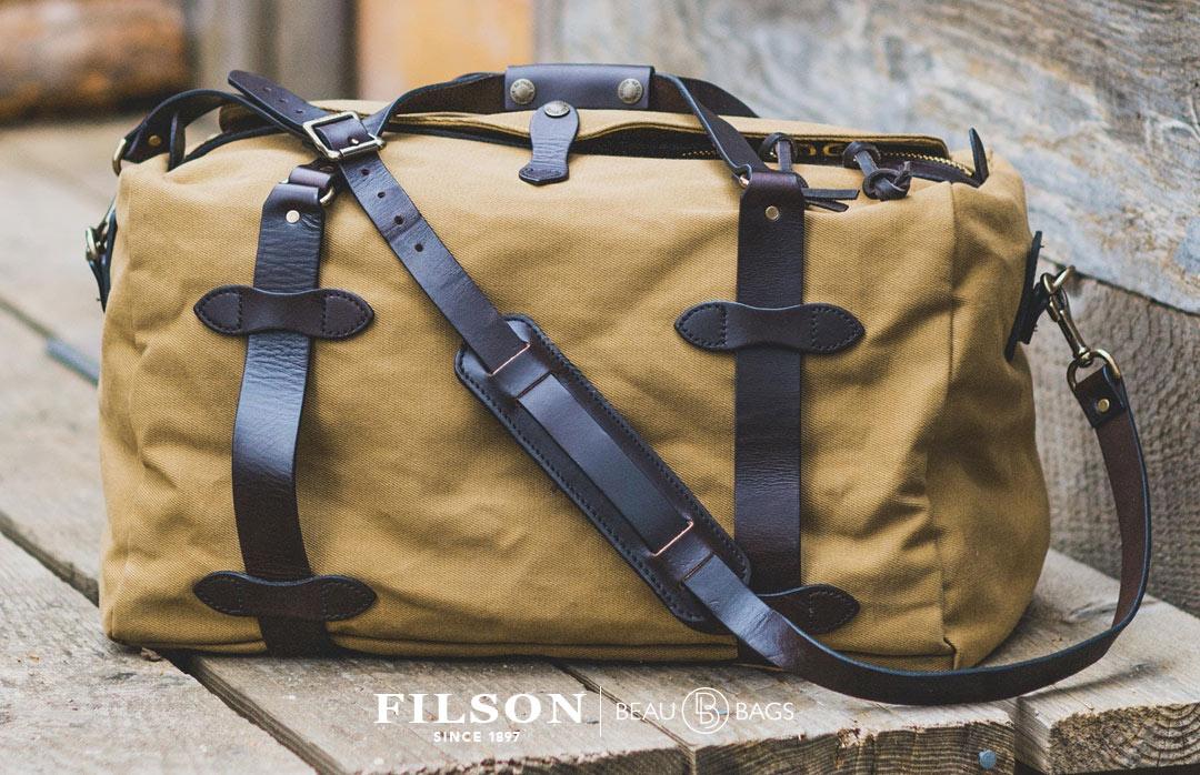 3af5ac7f53d6 Filson Rugged Twill Duffle Bag Medium 11070325-Tan