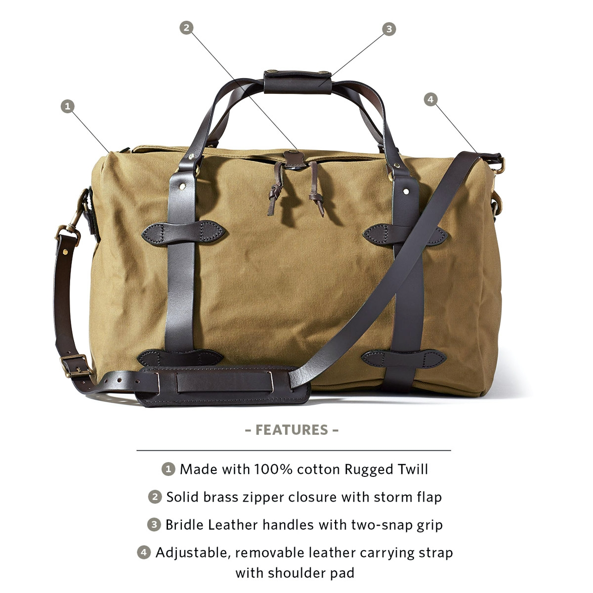 Filson Duffle Medium 11070325 Tan explained
