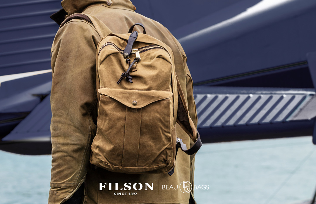 Filson Journeyman Backpack 11070307 Tan, a perfect backpack for use in the field or city