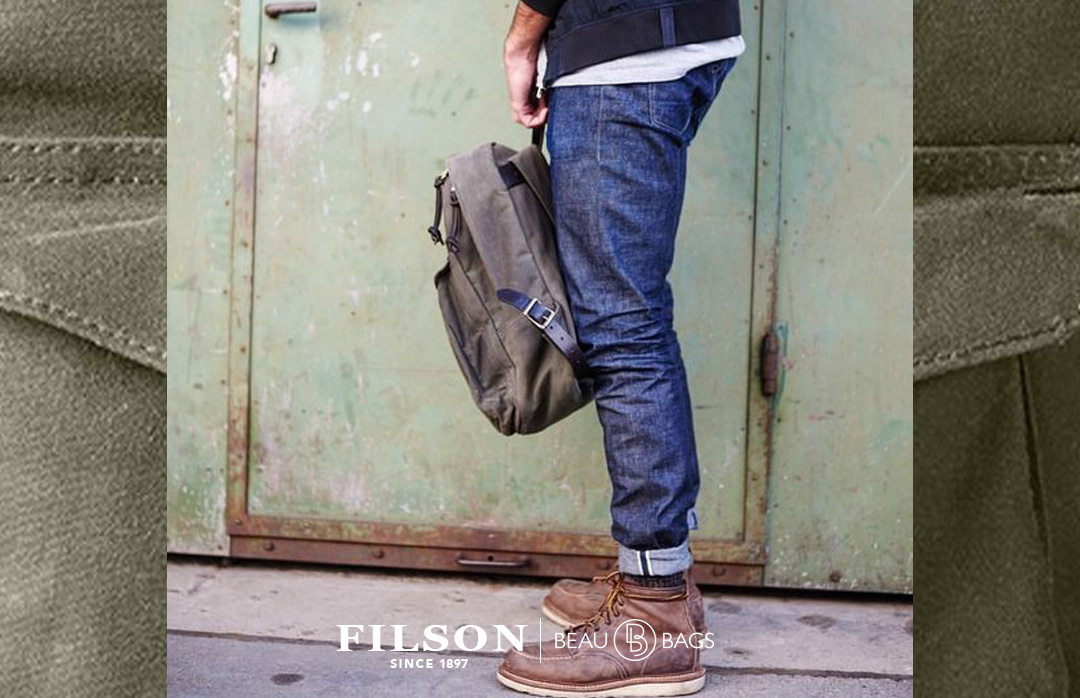 Filson Journeyman Backpack Ottergreen, the best backpack for your vintage outfit