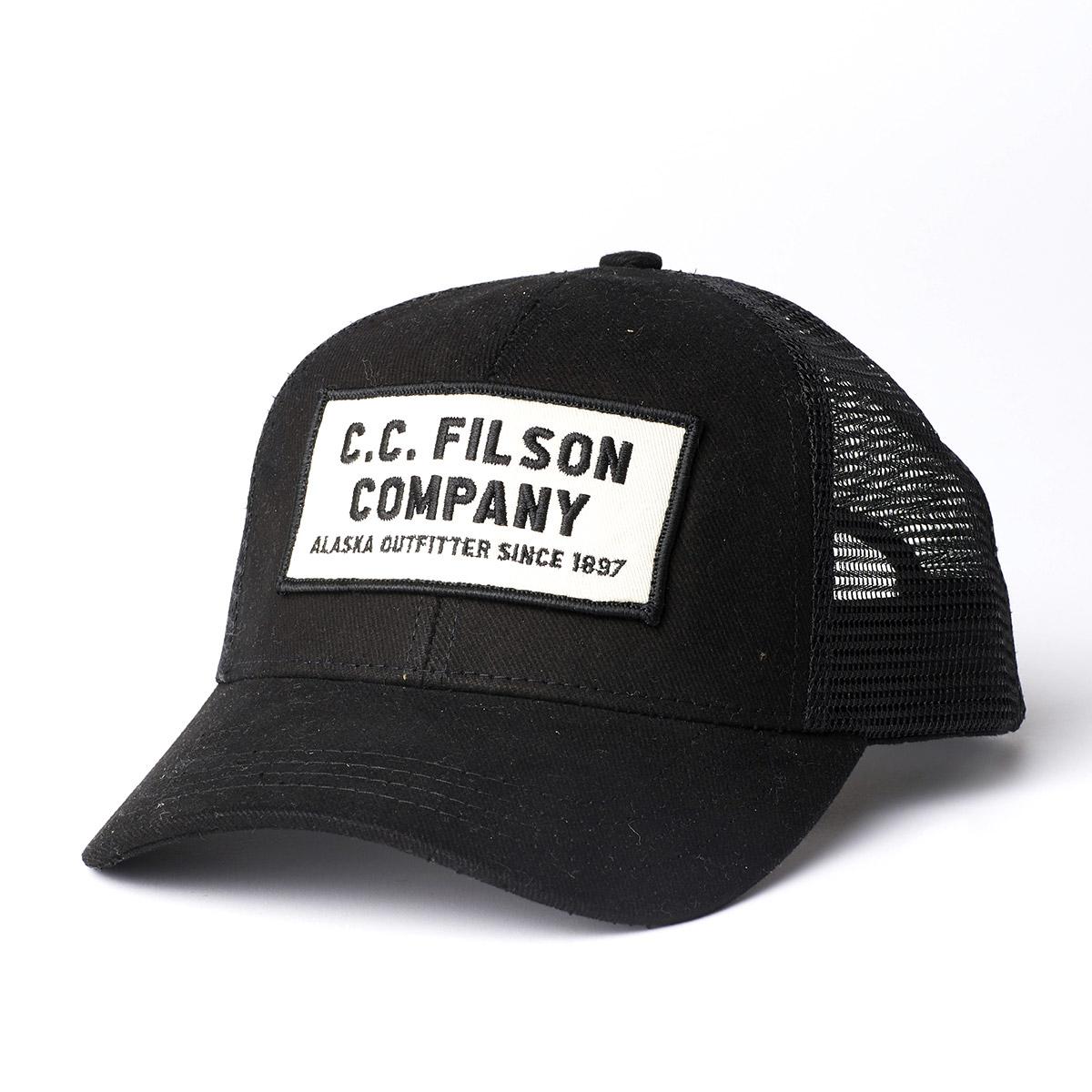 Filson Mesh Snap-Back Logger Cap 20172157 Black, durable cap with breathable sun protection
