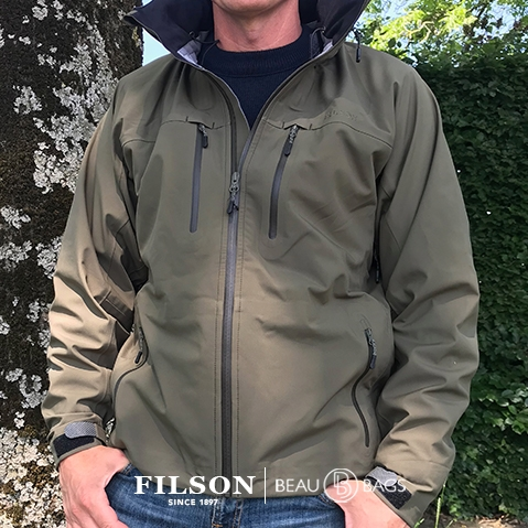 Filson Neoshell Reliance Jacket Olive Drab, waterproof and highly breathable jacket