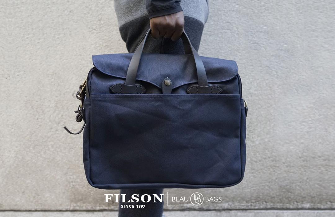 Filson Original Briefcase 11070256 Navy in the city