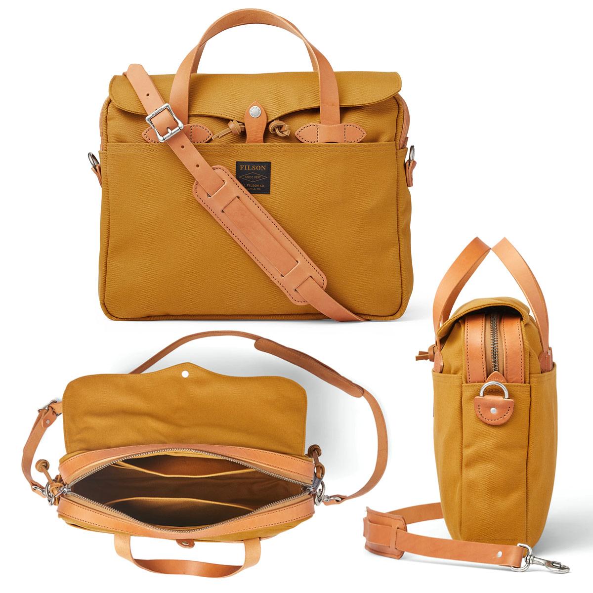 Filson Original Briefcase Chessie Tan, extraordinary bag for an ordinary day