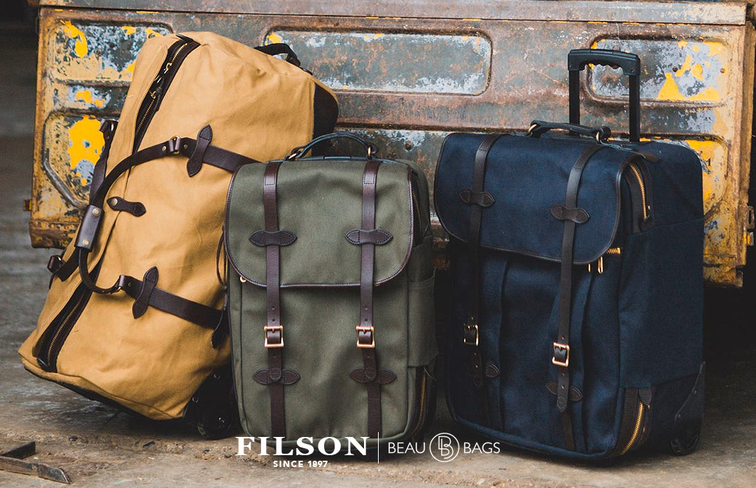 Filson Rolling Carry-On Bag Tan for travel in style
